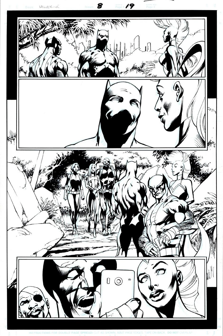 Wolverine #8 p 19 (Wolverine, Black Panther, Storm, Nick Fury!) 2013