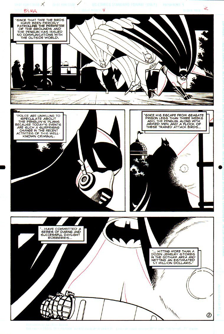 Batman & Robin Adventures #4 p 2 (BATMAN IN EVERY PANEL WEARING HIS COVID-19 MASK!)