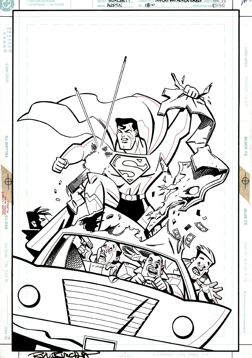 Superman Adventures #18 Cover (ICONIC SUPERMAN BATTLE SCENE!) 1998