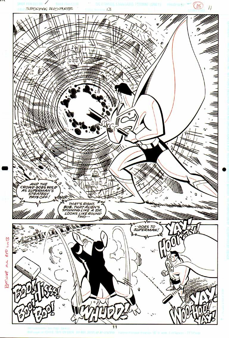 Superman Adventures #13 p 11 SPLASH