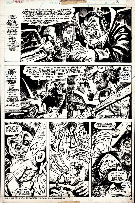 Arrgh! #1 p 2 (COUNT FANGULA BEAT UP!) 1974