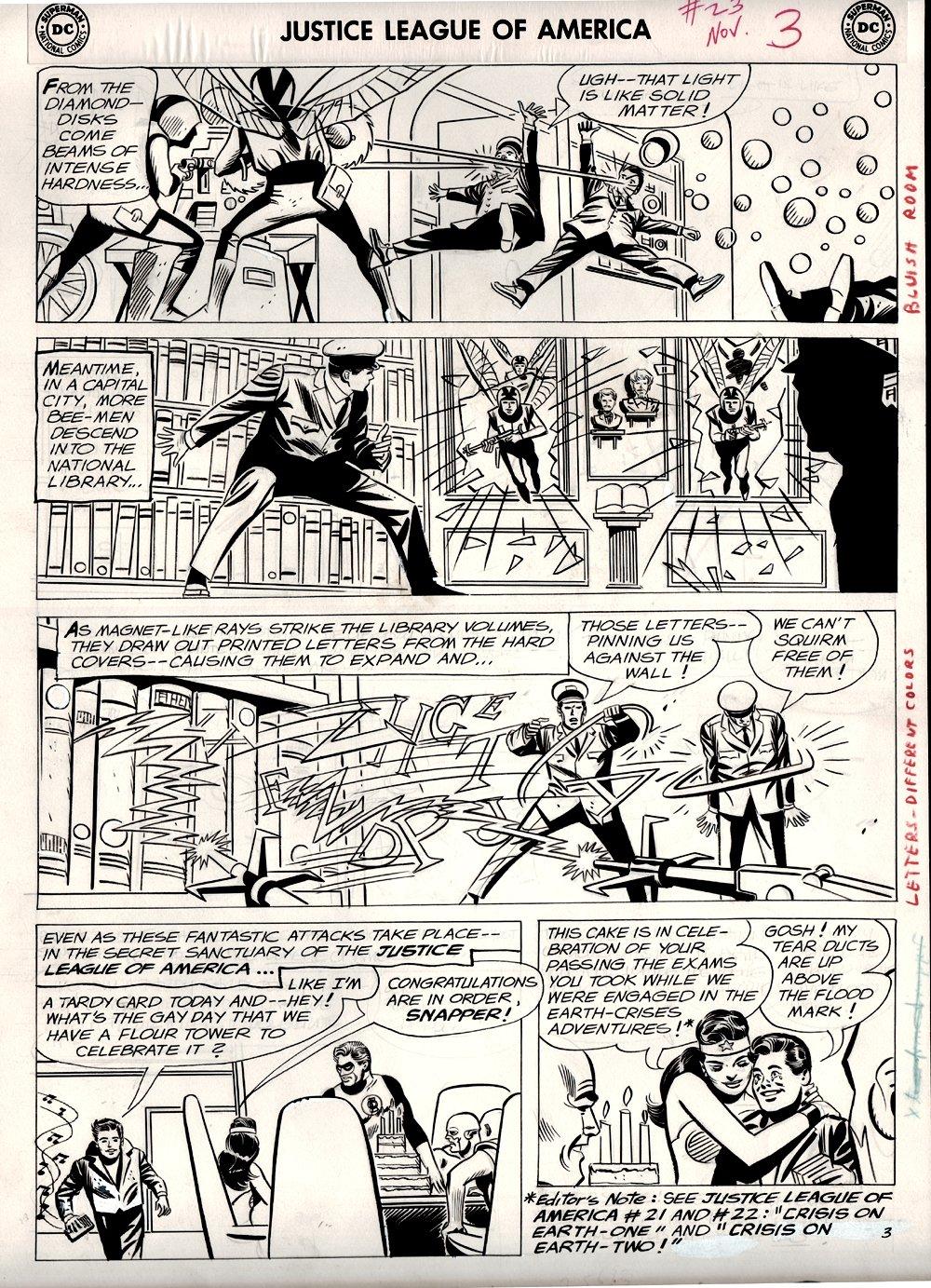 Justice League of America #23 p 3 (Large Art) 1963