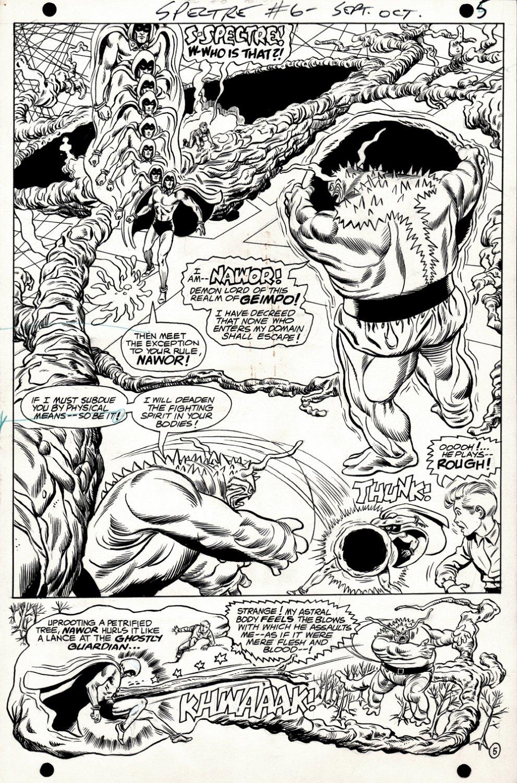 Spectre #6 p 5 SPLASH (Spectre Battles The Demon: Nawor! MURPHY ANDERSON INKS!) 1968