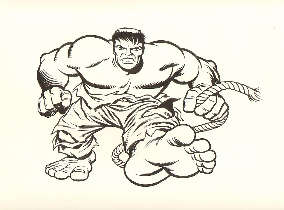 Incredible Hulk T-Shirt Design Art