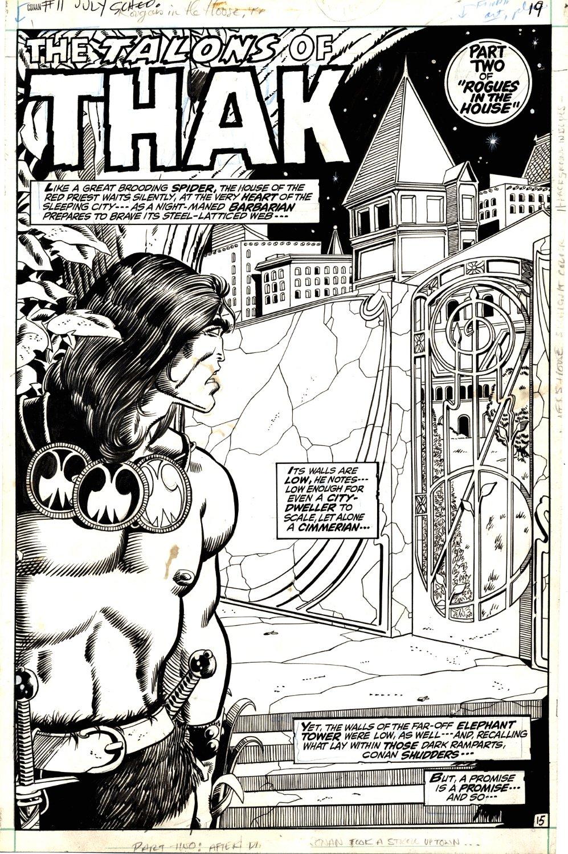 Conan the Barbarian #11 p 15 SPLASH  (Large Conan!) 1971