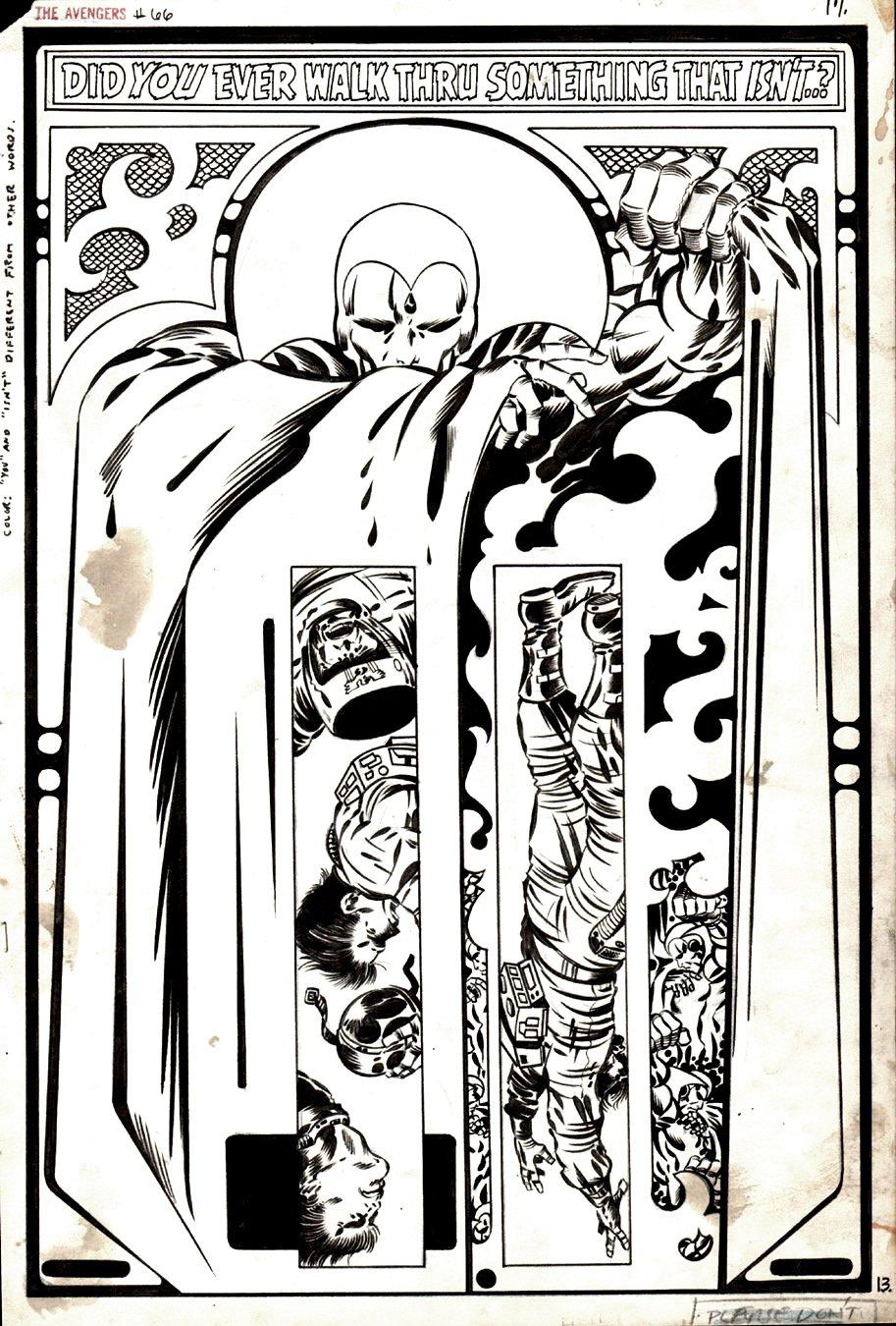 Avengers #66 p 13 SPLASH (1969)