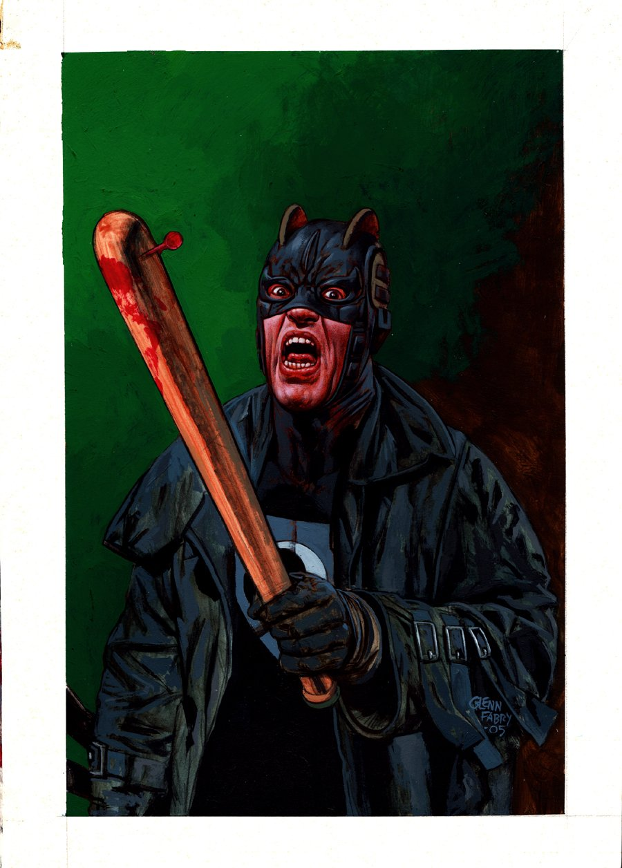 The Authority: The Magnificent Kevin #5 Cover Painting (THE MIDNIGHTER!) 2005