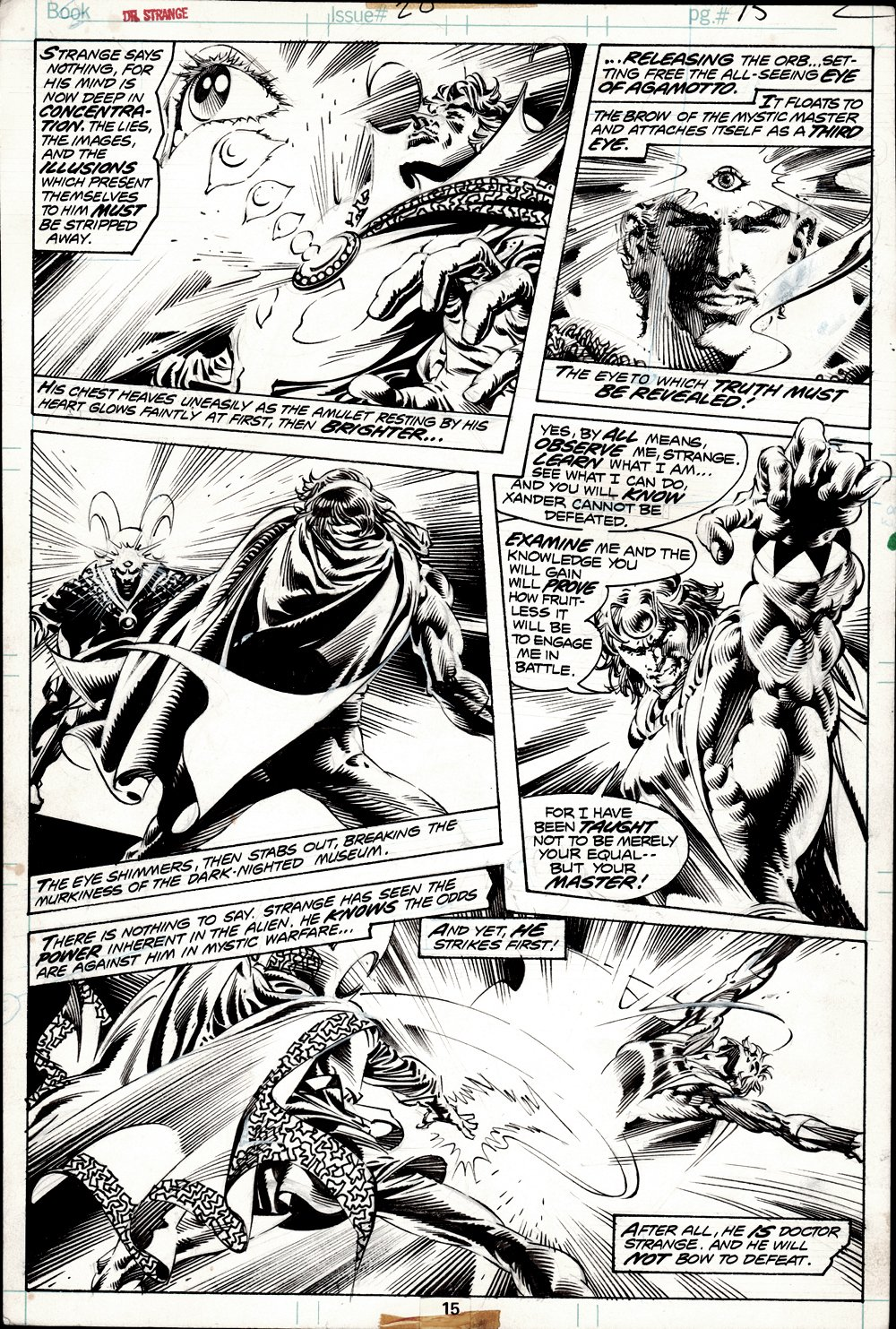 Doctor Strange #20 p 15 (Doctor Strange Battles Xander The Merciless In EVERY PANEL!) 1976
