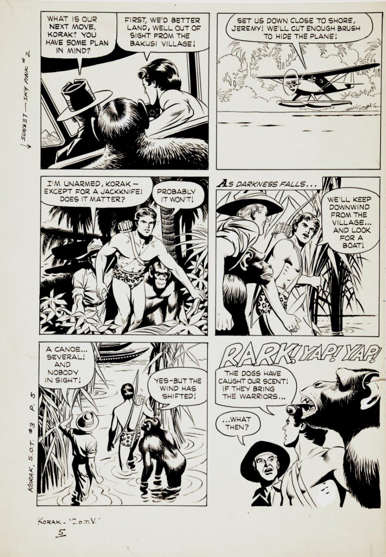 Korak, Son of Tarzan #3 p 5 (KORAK IN 5 OF 6 PANELS!) Large Art - 1964