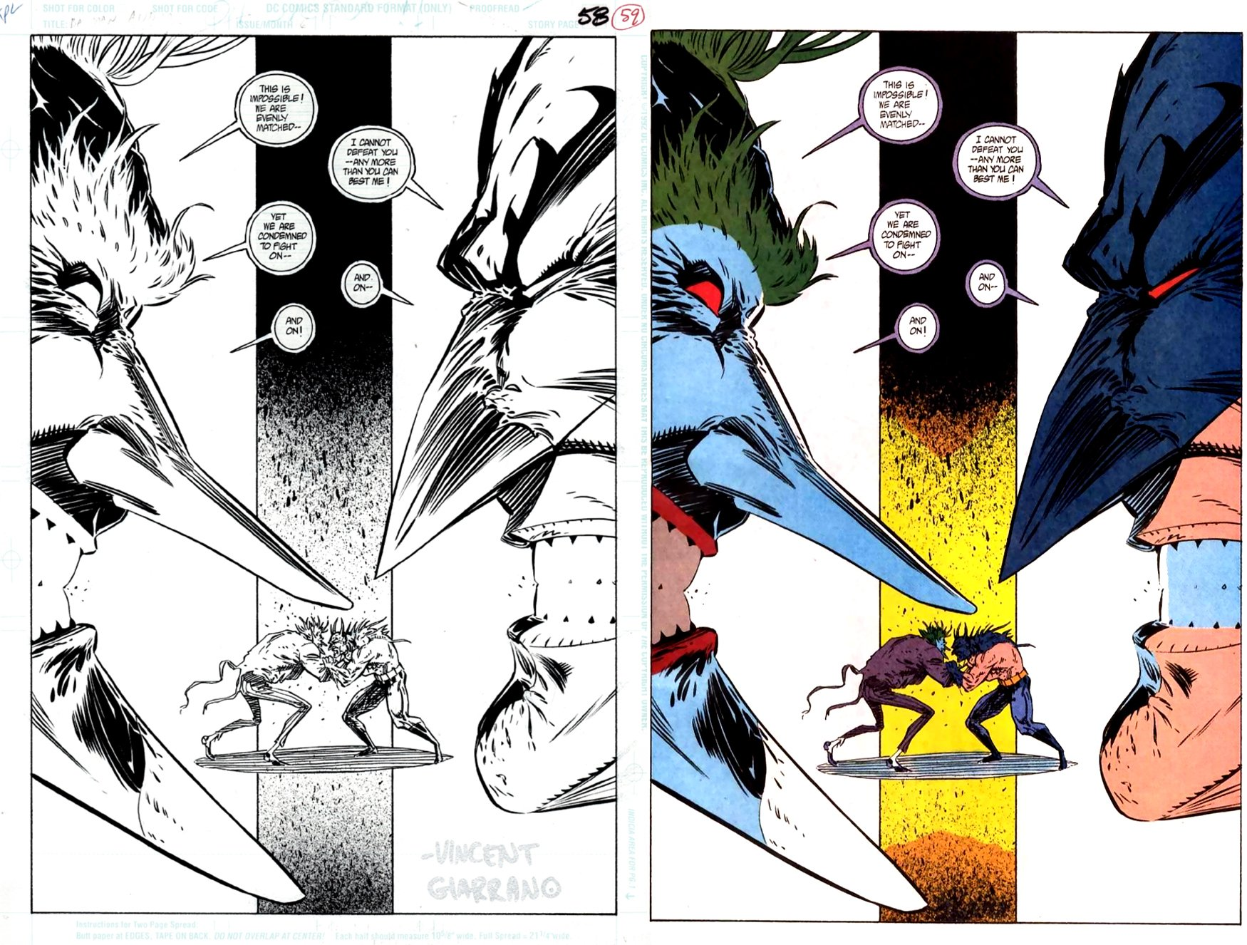 Batman Annual #16 p 58(SOLD LIVE ON 'DUELING DEALERS OF COMIC ART' EPISODE #29 PODCAST ON 8-4-2021 (RE-WATCH THIS FUNNY ART SELLING SHOW HERE)