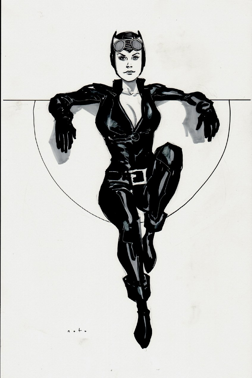 Catwoman Sexy Mixed Media Pinup
