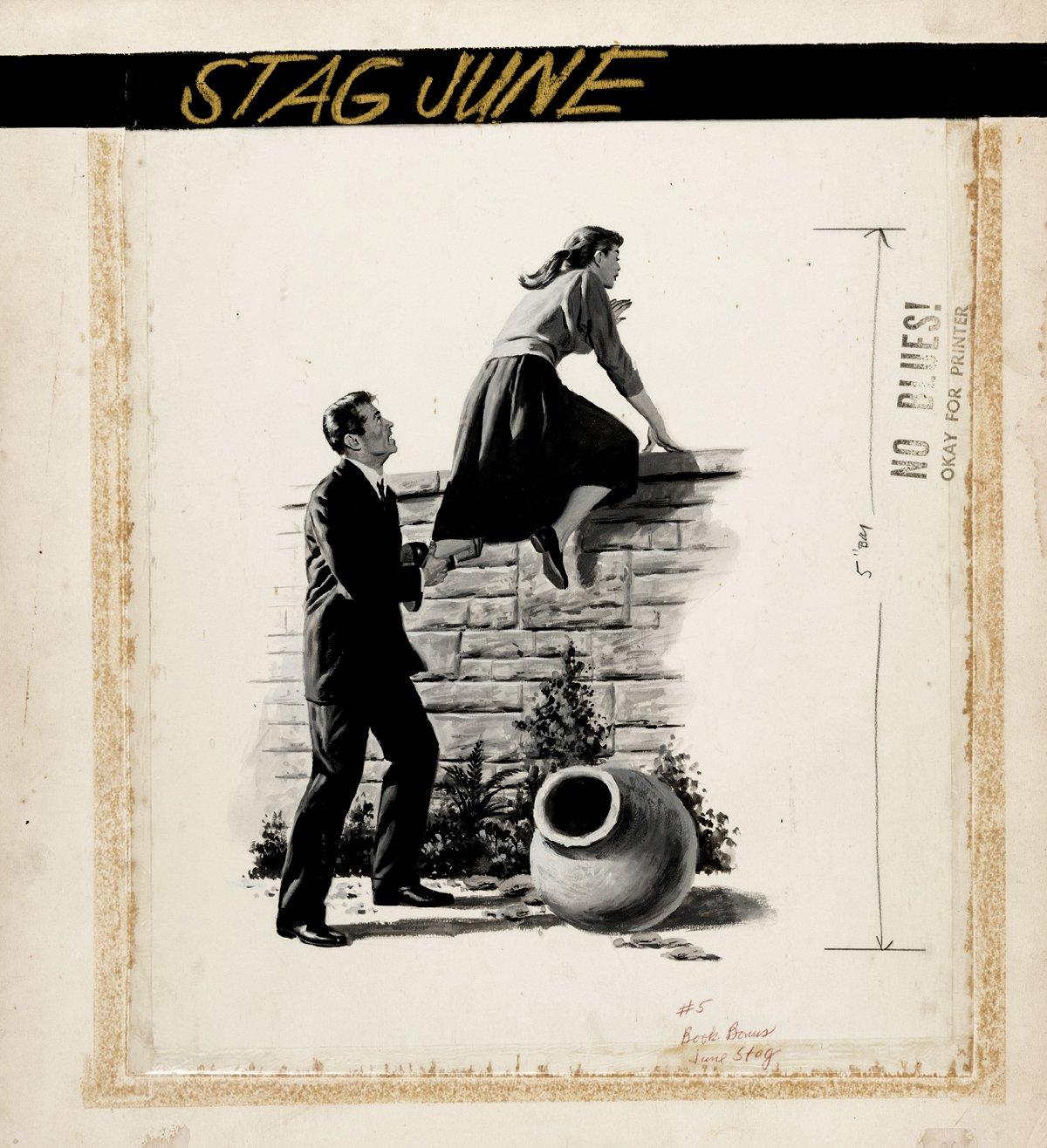 Stag Magazine V3#5 June 1952 Illustration Original Art (Official Magazine Corp, 1952).