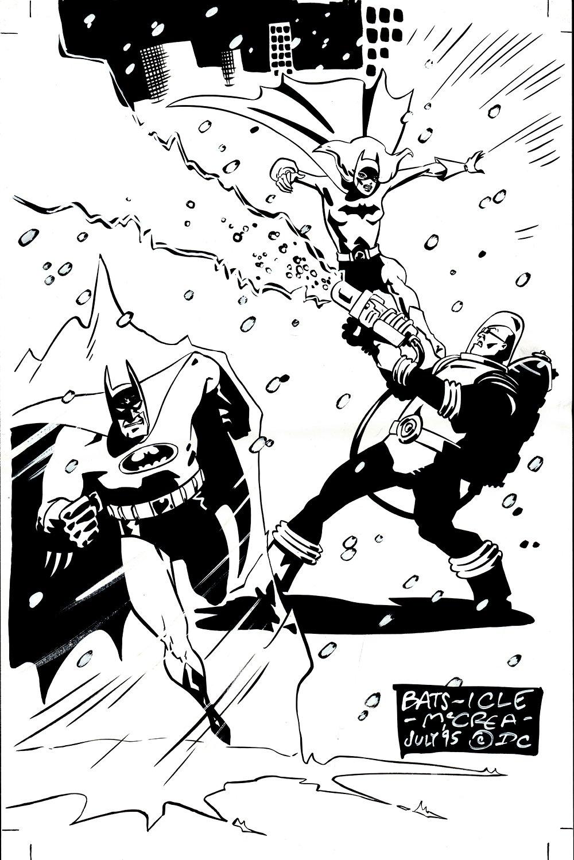 Published Comic-Con Program Cover (Batman & Batgirl Battle Mr. Freeze) 1995