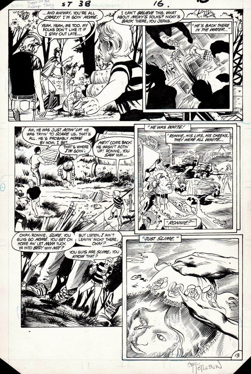 Saga of Swamp Thing 38 p 13 (1983)