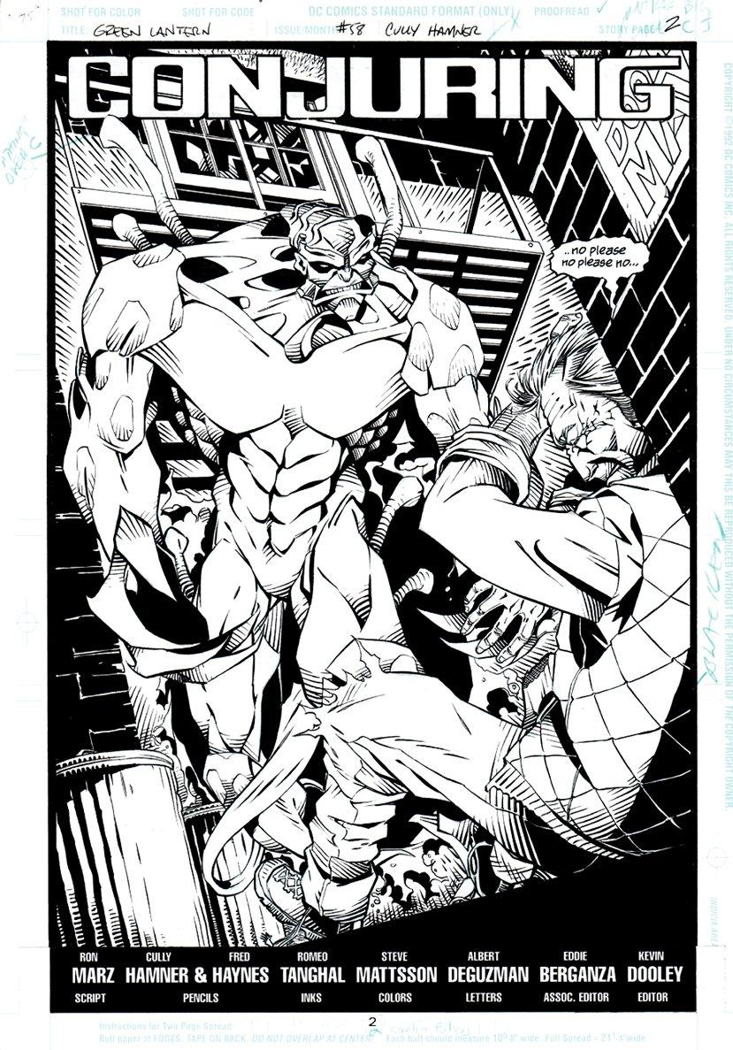 Green Lantern #58 p 1 SPLASH (1994)