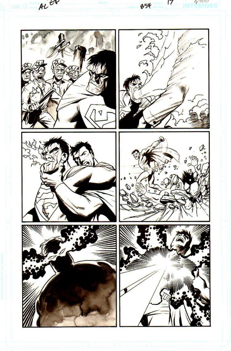Action Comics #855 p 17 (Superman Battles BIZARRO!) 2007