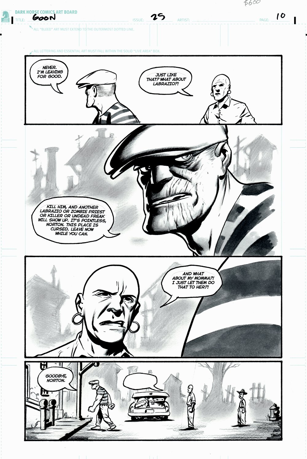 The Goon #25 p 10 (GOON IN EVERY PANEL! FRANKIE & NORTON ALSO!) 2008