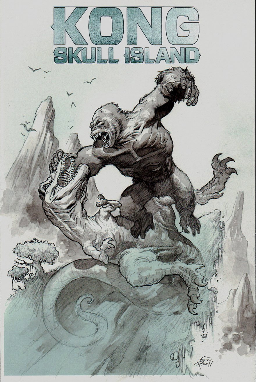 Kong of Skull Island #1 Cover (CLASSIC 1933 KING KONG MOVIE SCENE!) 2016