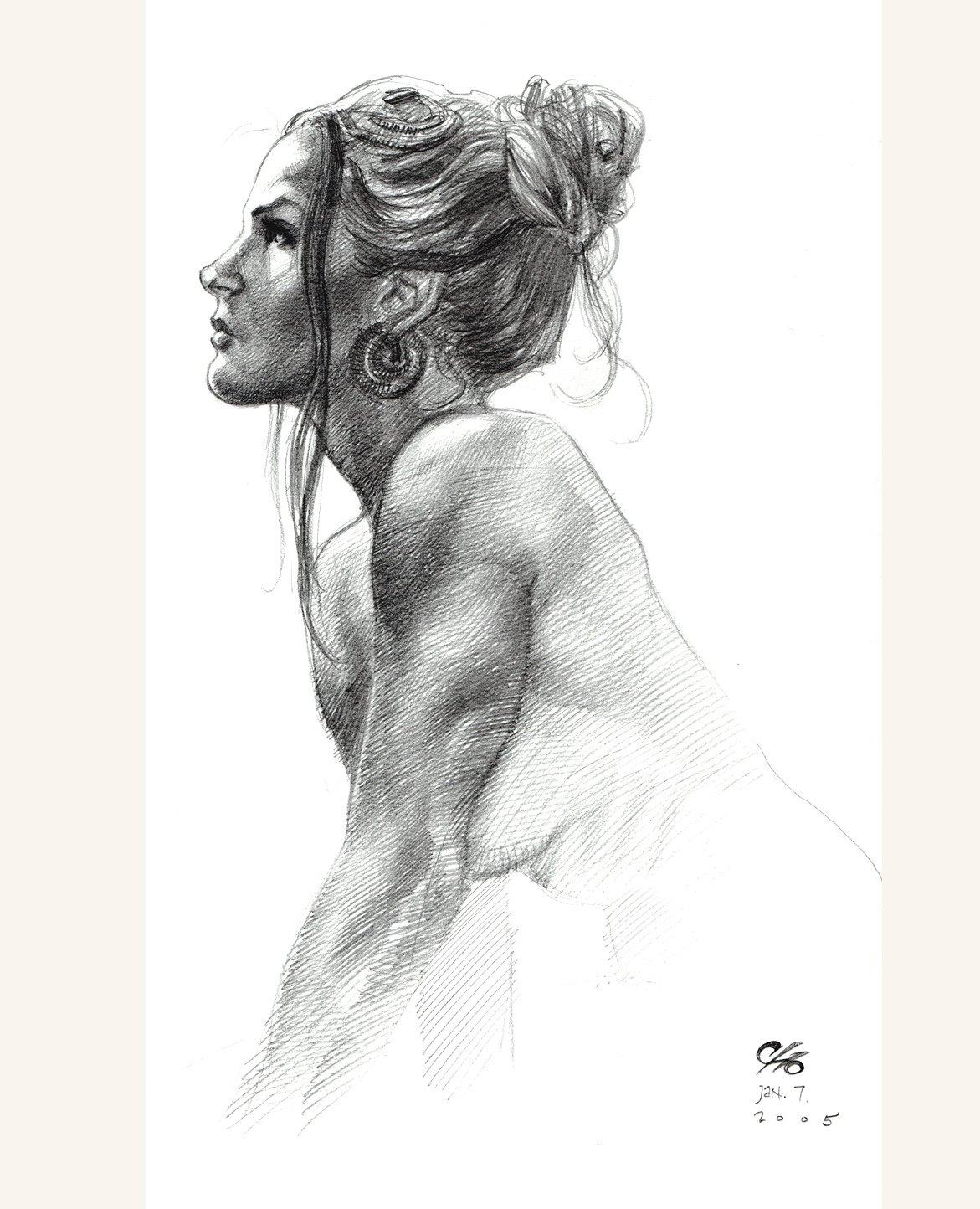 Cho Sketchbook #5 Published Nude Female Illustration (2005)