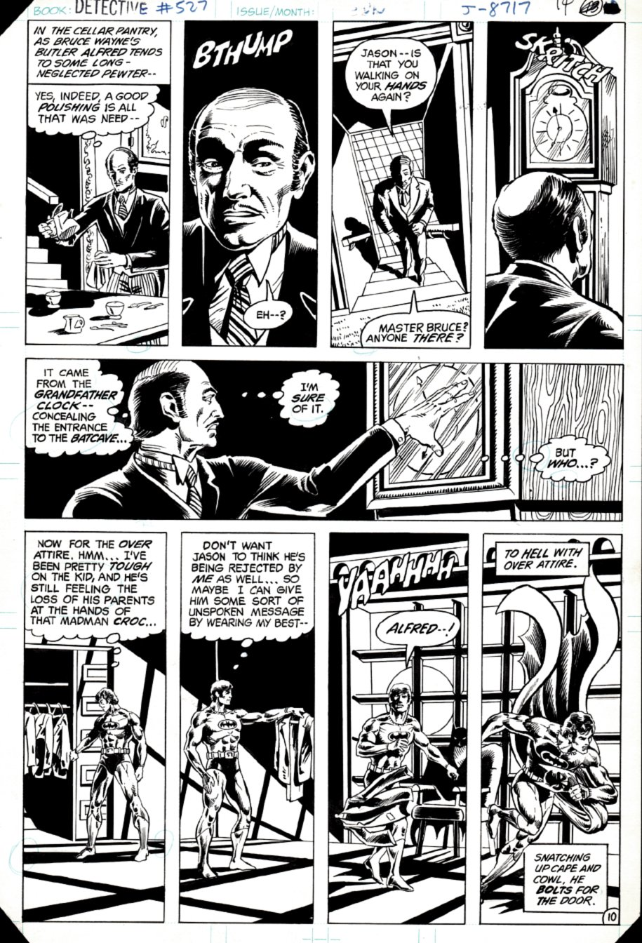 Detective Comics #527 p 10 (SOLD LIVE ON 'DUELING DEALERS OF COMIC ART' EPISODE #8 PODCAST ON 3-17-2021 (RE-WATCH OUR LIVE ART PODCAST HERE!)