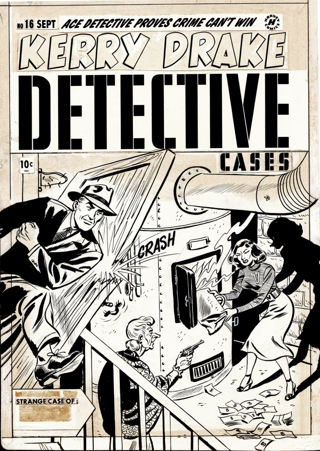 Kerry Drake Detective Cases #16 Cover (SOLD LIVE ON THE ROMITAMAN ART DROP PODCAST ON 10-9-2021)