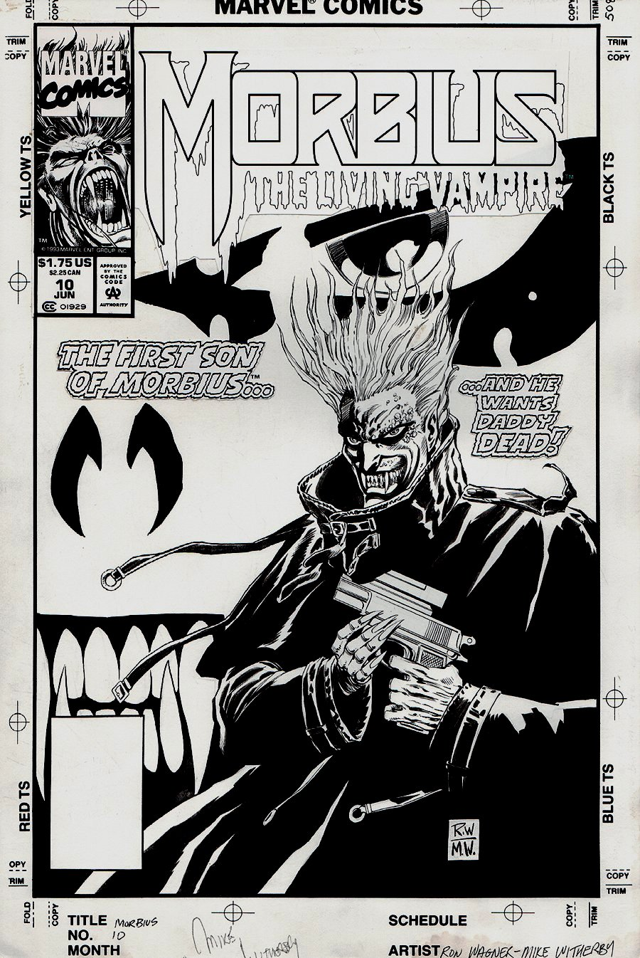 Morbius: The Living Vampire #10 Cover (1993)