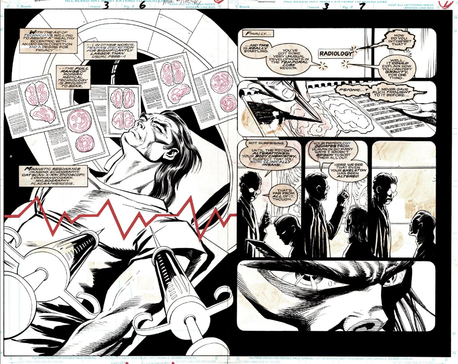 Morbius: The Living Vampire #3 p 6-7 Double Spread Splash (1992)