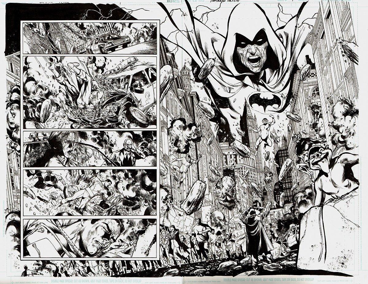 Infinite Crisis #1 p 14-15 Double Page Spread (2005)