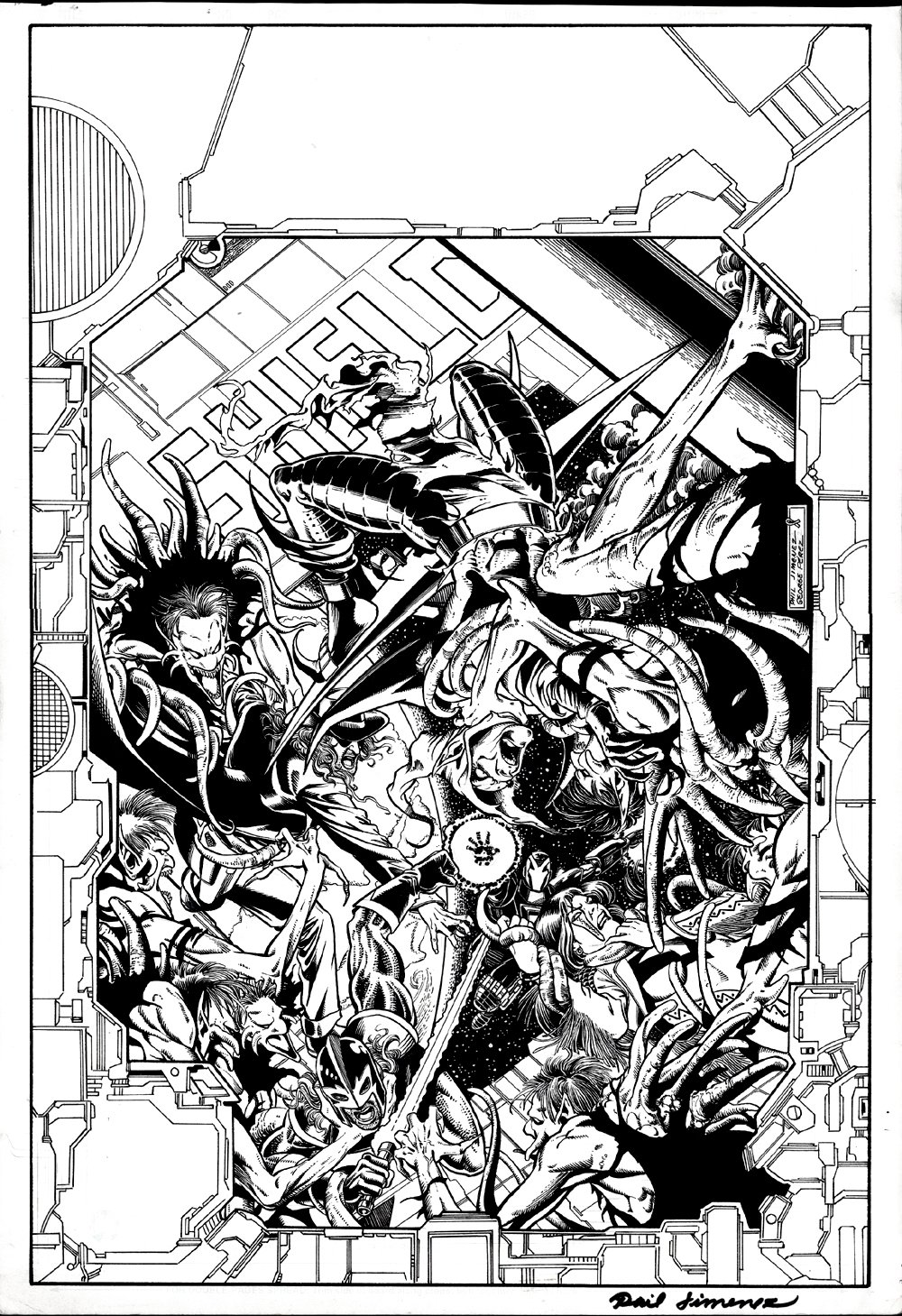 UltraForce / Spider-Man #1 Cover (GREEN GOBLIN & BLACK KNIGHT!) 1996