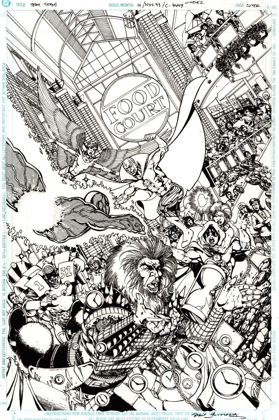 Team Titans #14 Cover (1993)