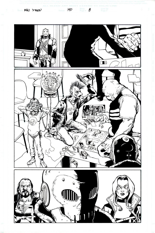 New X-Men #140 p 8 HALF-SPLASH (2003)