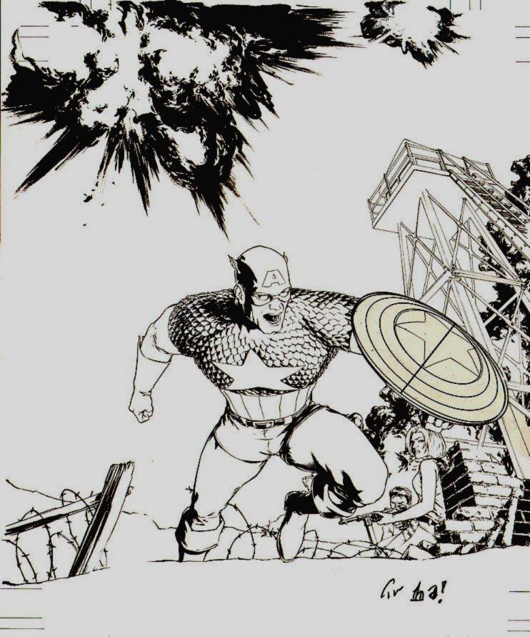 Captain America #20 Cover (Large Art) 2003