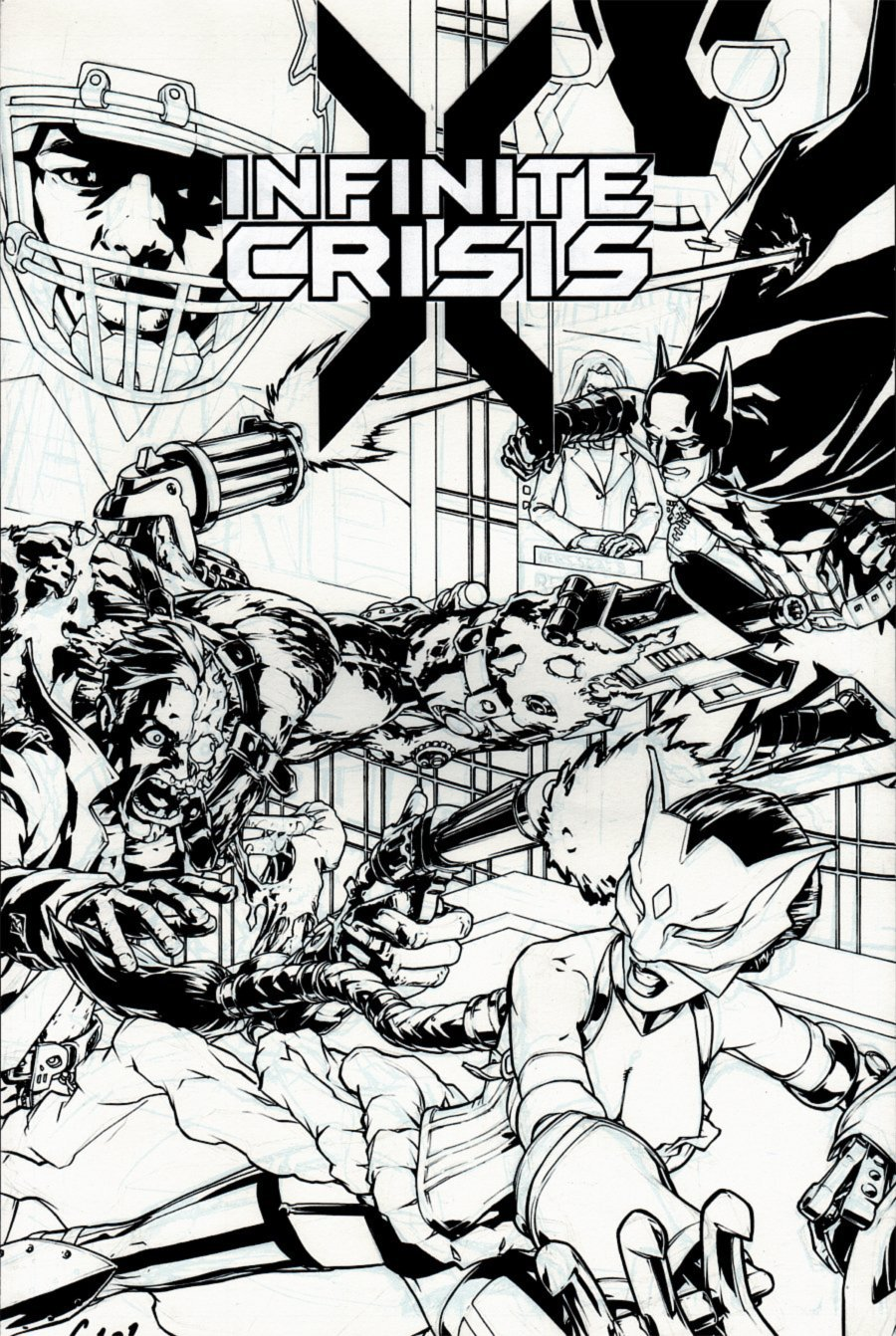 Infinite Crisis #1 Cover (Batman, Catwoman, Two-Face!) 2014