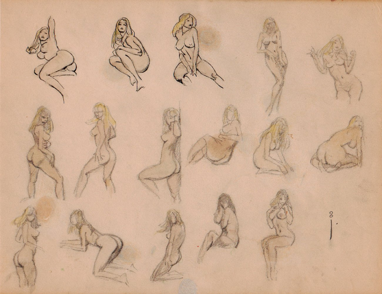 16 NUDE Female Drawing Poses