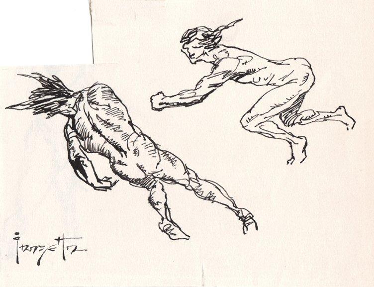 2 Nude Warriors Fight Scene