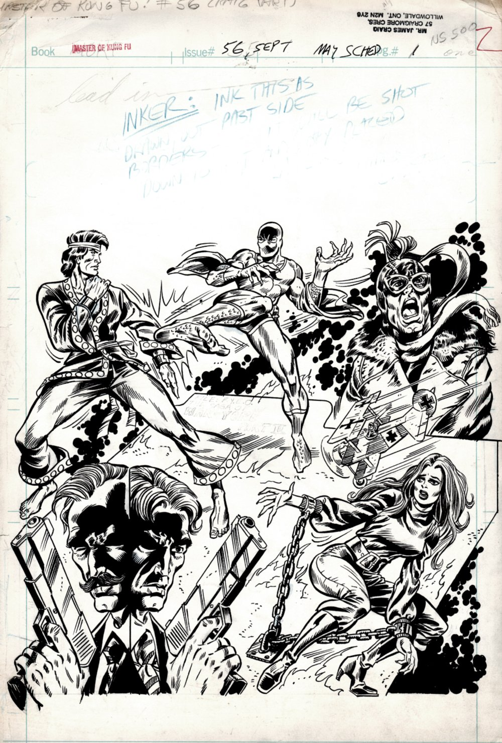 Master of Kung Fu #56 p 1 SPLASH (EVERYONE ON THIS ONE!) 1977