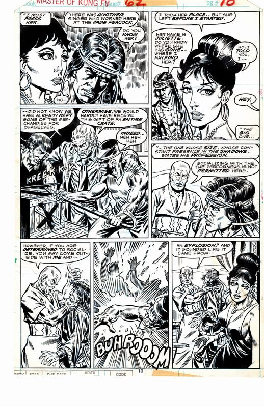 Master of Kung Fu #62 p 10 (Shang-Chi In 5 Great Panels!) 1977