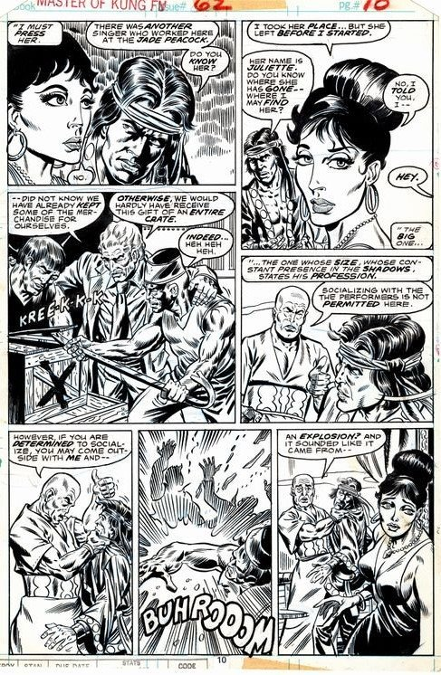 Master Of Kung-Fu 62 p 10 (SOLD LIVE ON 'DUELING DEALERS OF COMIC ART' EPISODE #9 PODCAST ON 3-24-2021 (RE-WATCH OUR LIVE ART SELLING PODCAST HERE!)