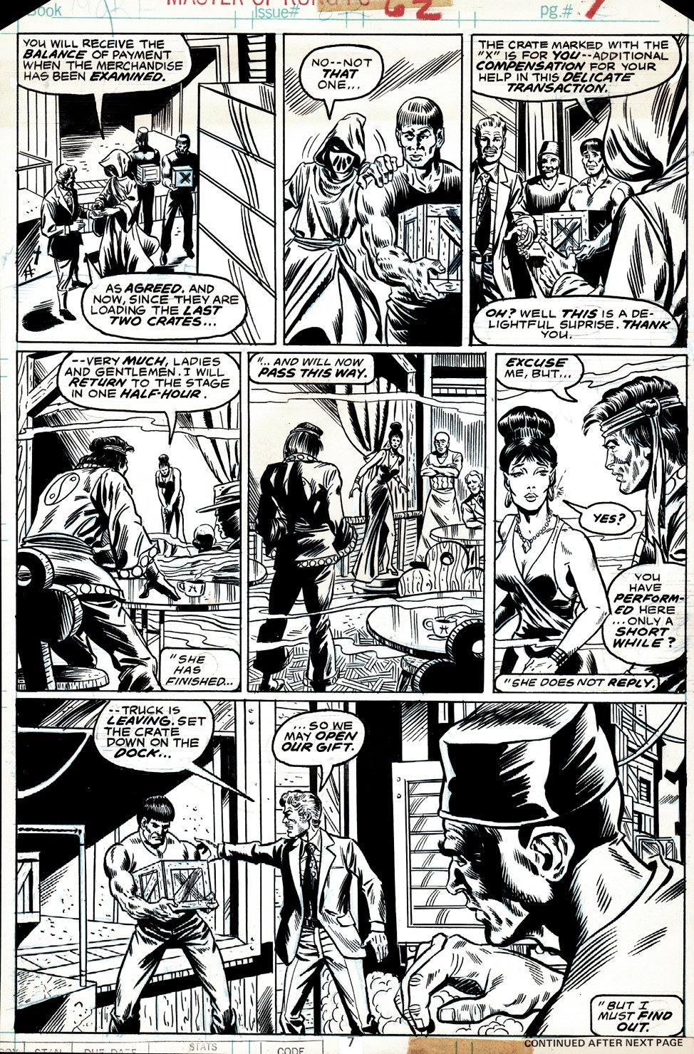 Master of Kung Fu #62 p 7 (Shang-Chi In 5 Great Panels!) 1977