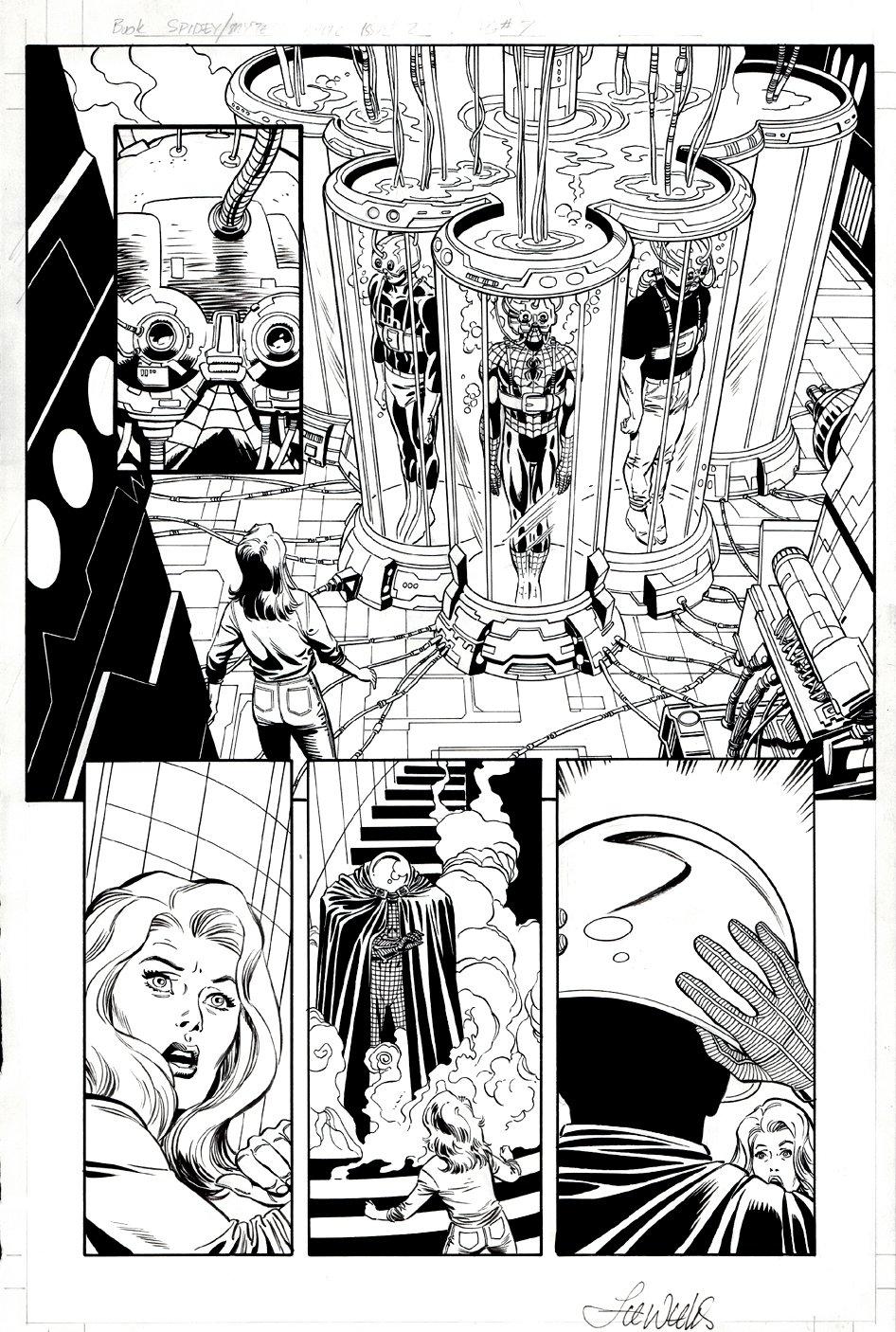 Spider-Man: The Mysterio Manifesto #3 p 7 Semi-Splash (Spider-Man, Daredevil, Mysterio!) 2000