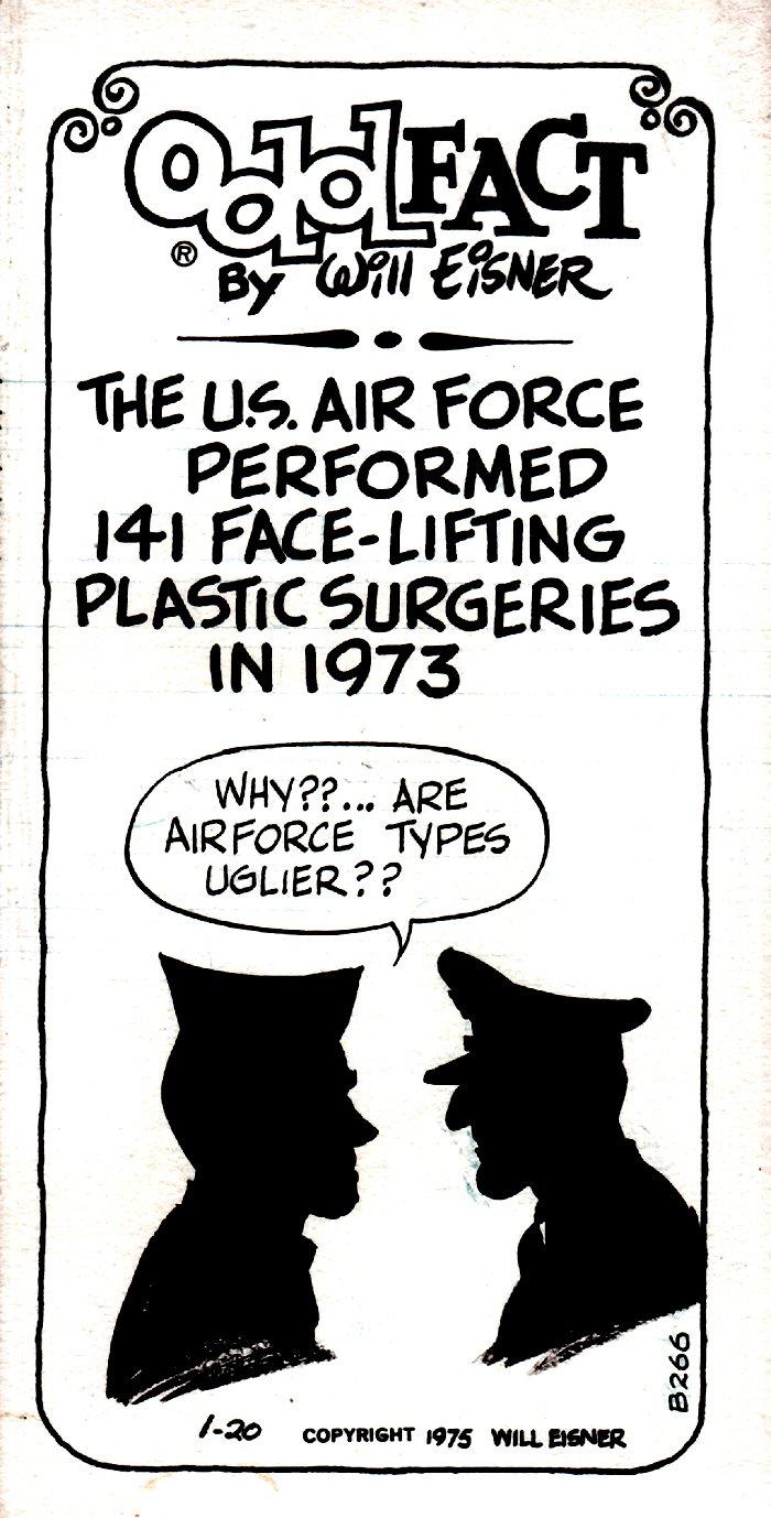 Odd Fact Newspaper Strip By Will Eisner - 1-20-1975