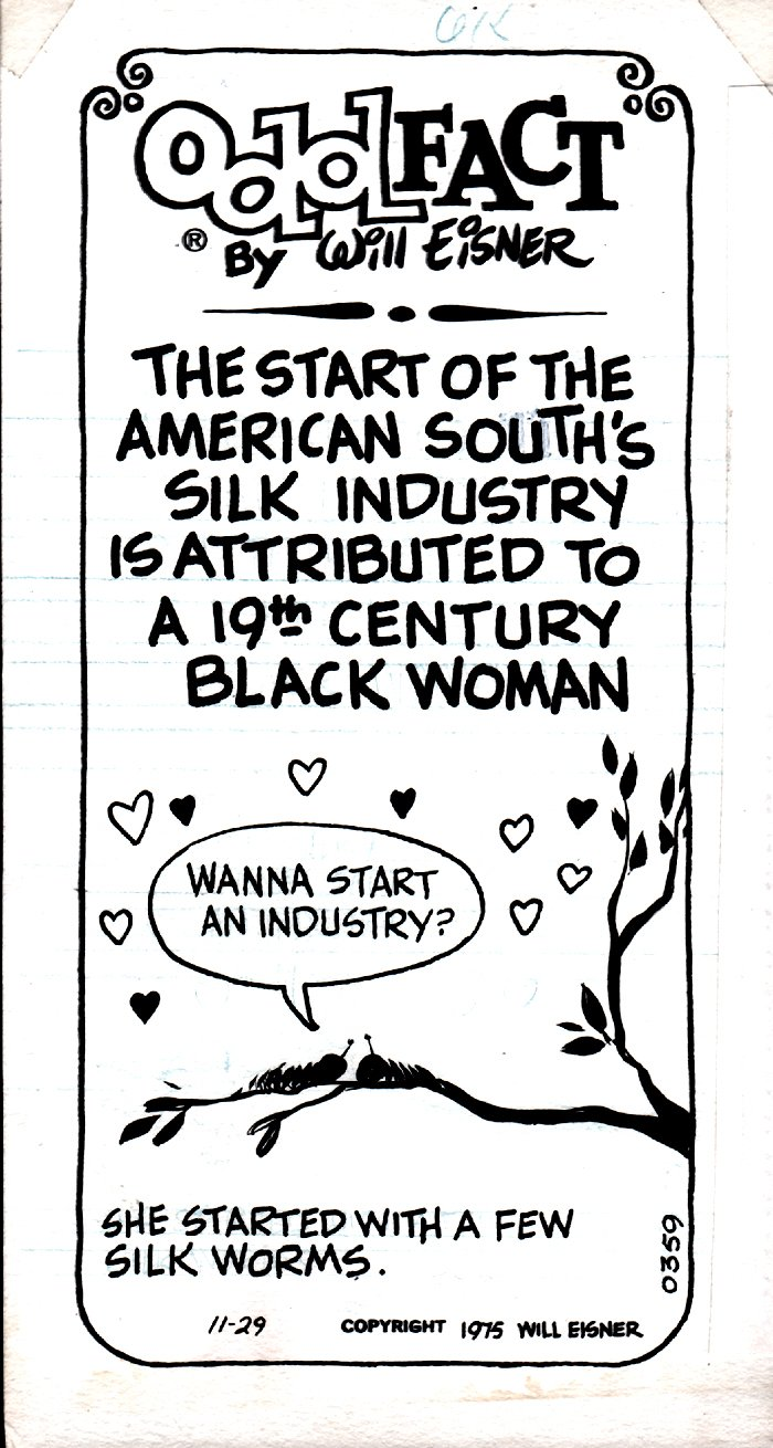 Odd Fact Newspaper Strip By Will Eisner - 11-29-1975