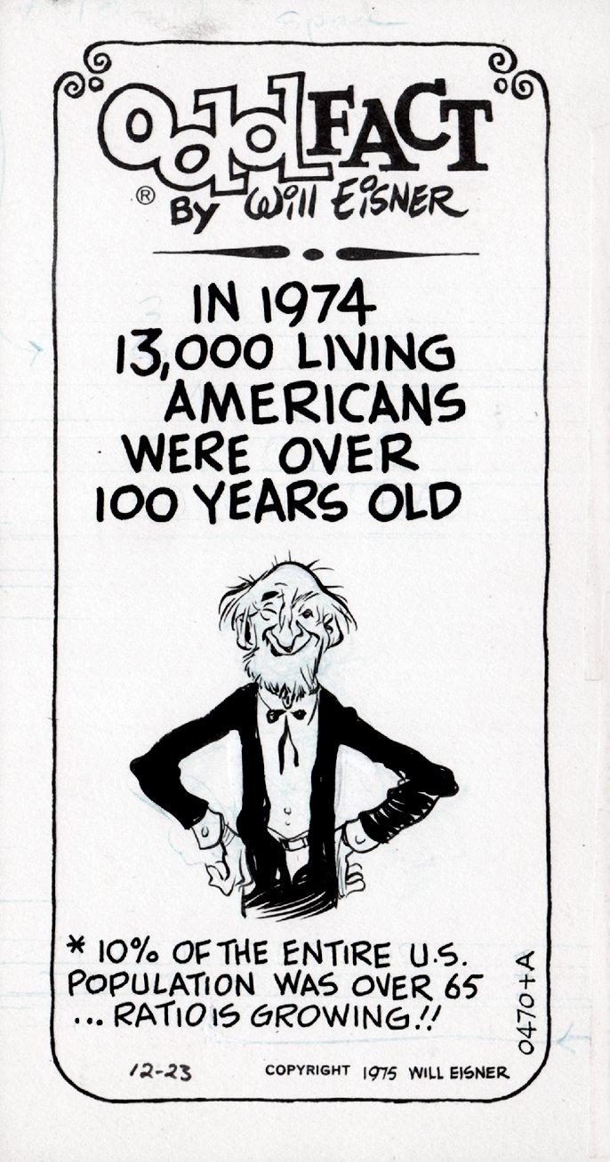 Odd Fact Newspaper Strip By Will Eisner - 12-23-1975