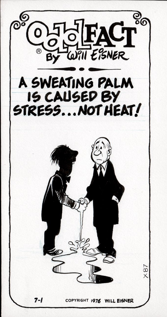 Odd Fact Newspaper Strip By Will Eisner - 7-1-1976