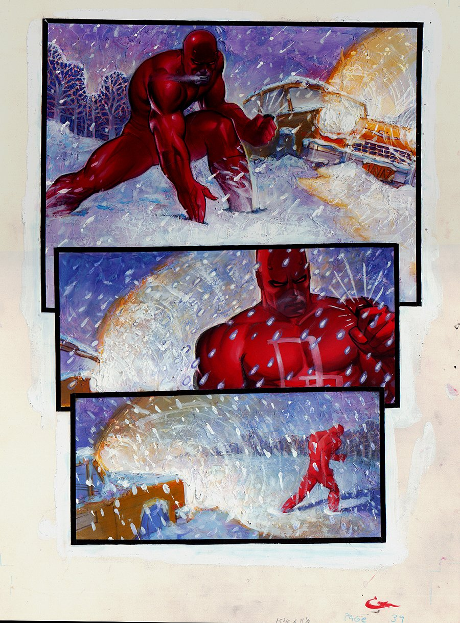 Daredevil/Black Widow: Abattoir Graphic Novel p 39 (Large Art) 1993