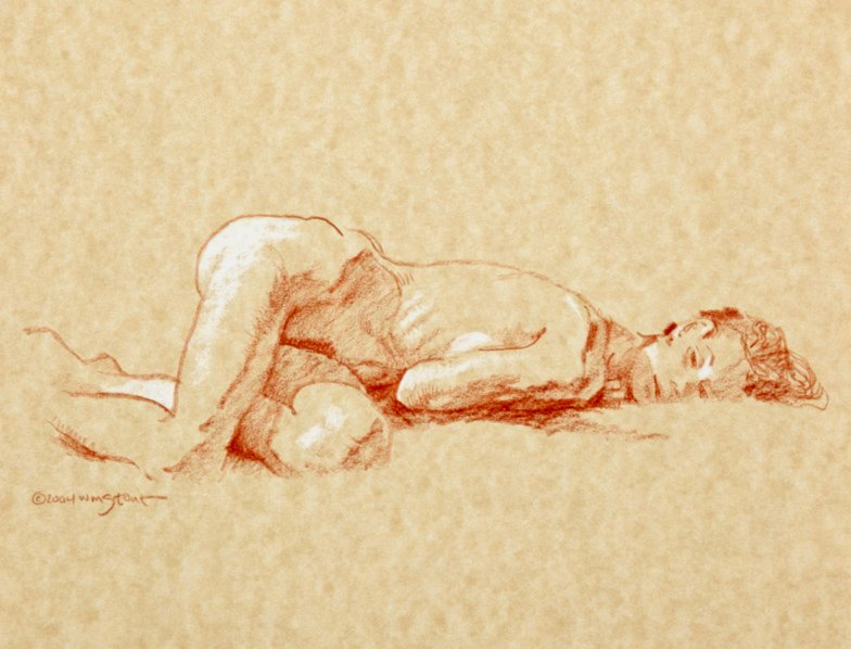 Nude Female Figure Drawing (2004)