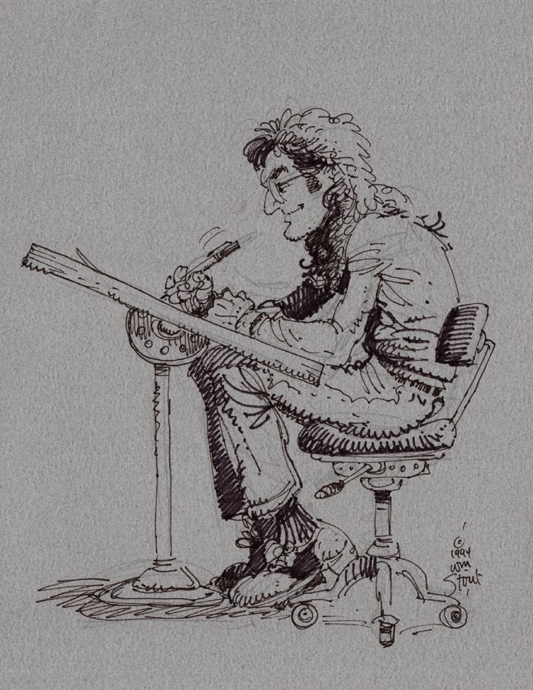William Stout Self Portrait At The Drawing Table! (1994)