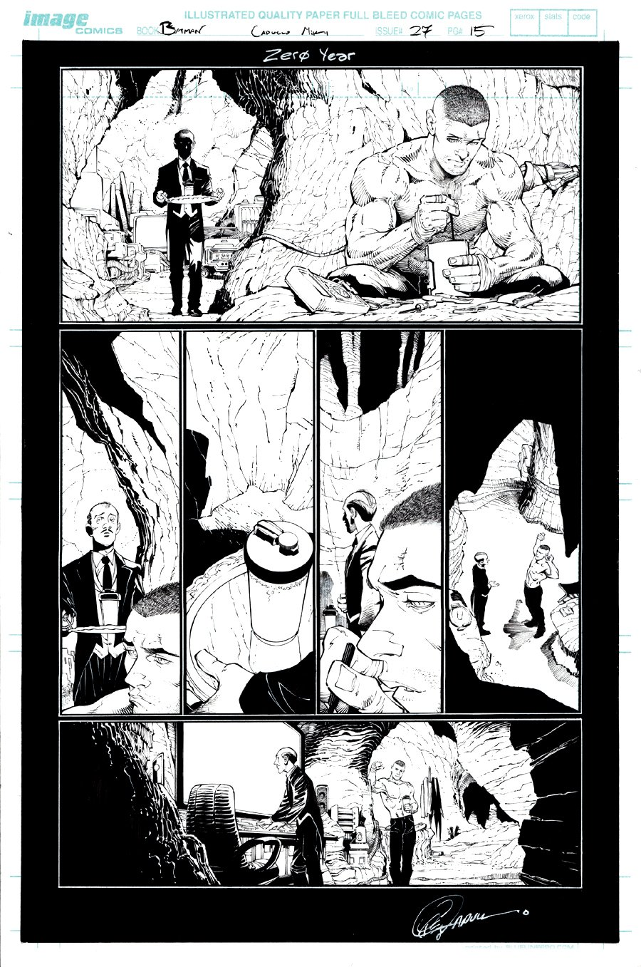 Batman #27 p 15 (Nice Bruce Wayne & Alfred!) 2013