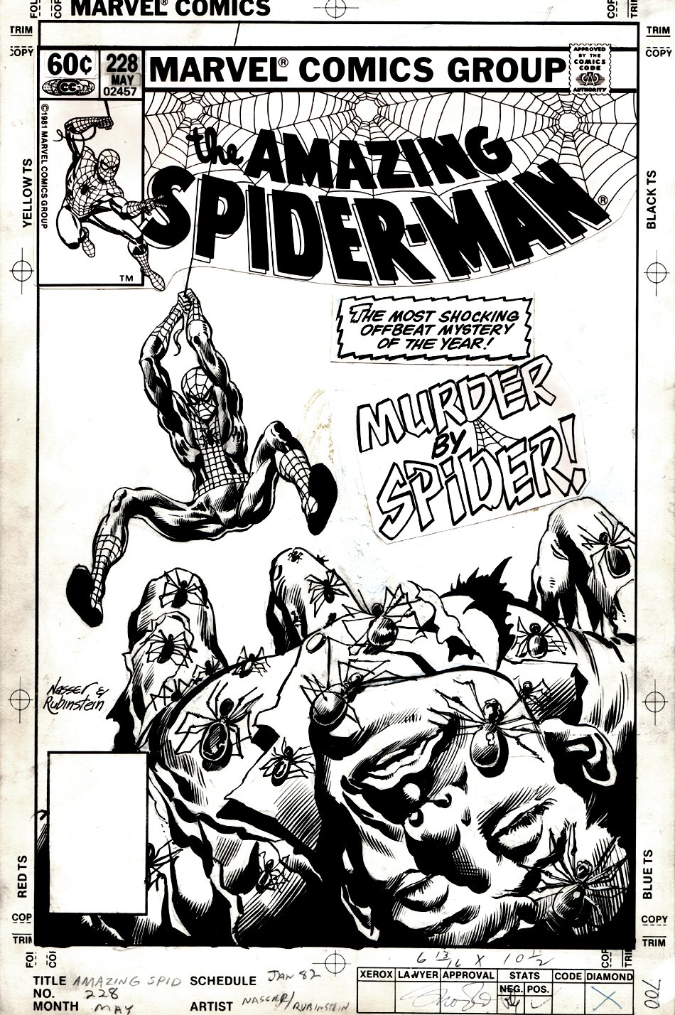 Amazing Spider-Man #228 (MURDER BY SPIDER) Cover - 1982