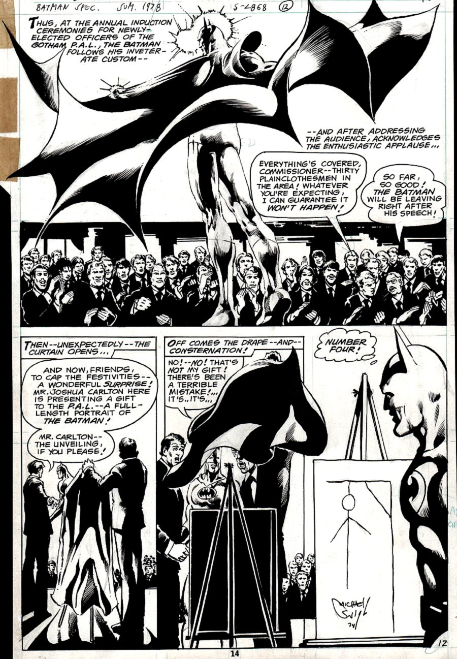 DC Special Series #15 p 12 SEMI-SPLASH (BATMAN!) 1978